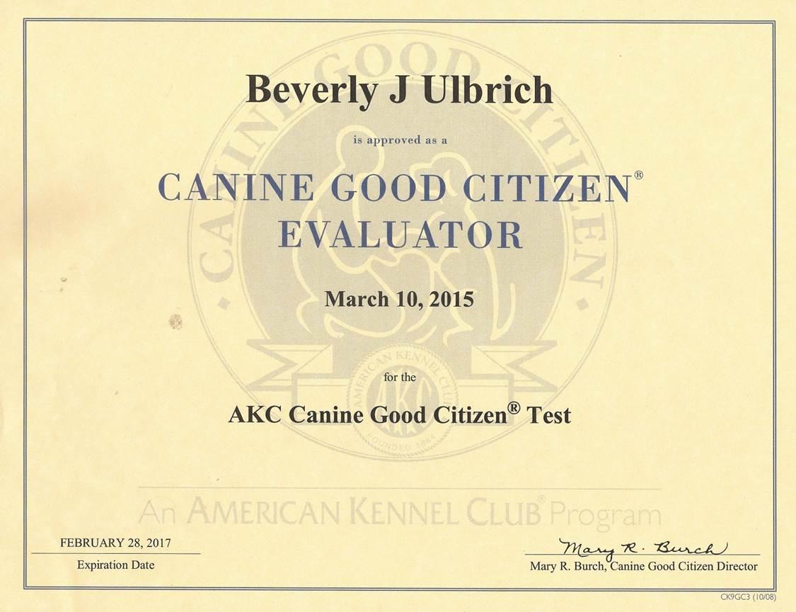 Canine Good Citizen Test San Francisco Bay Area