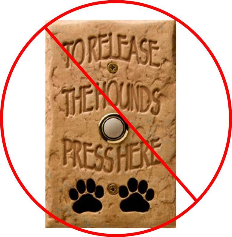 Dogs doorbell reaction