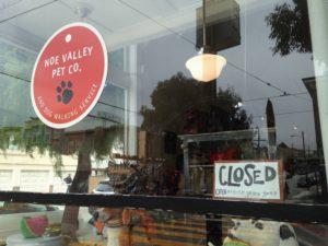 Nooooo! The doggie store is closed!